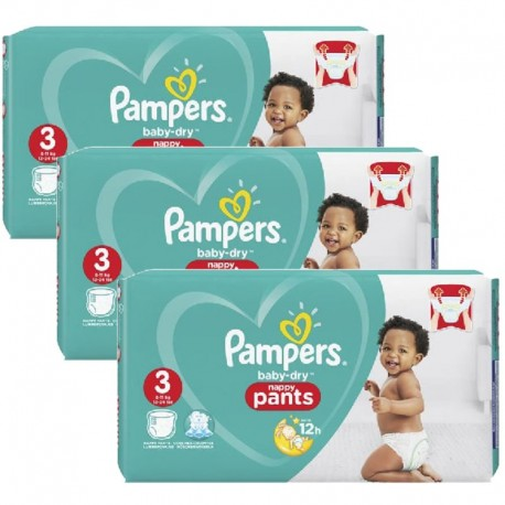 Maxi giga pack 304 Couches Pampers Baby Dry Pants taille 3 sur Promo Couches