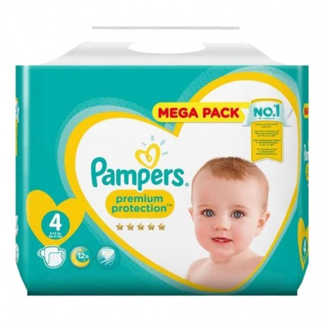 Pack 78 Couches Pampers Premium Protection taille 4 sur Promo Couches