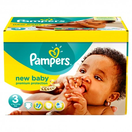 Mega pack 136 Couches Pampers New Baby Premium Protection taille 3 sur Promo Couches