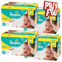 Giga pack 204 Couches Pampers New Baby Premium Protection taille 3