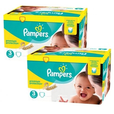 Pack jumeaux 544 Couches Pampers New Baby Premium Protection taille 3 sur Promo Couches