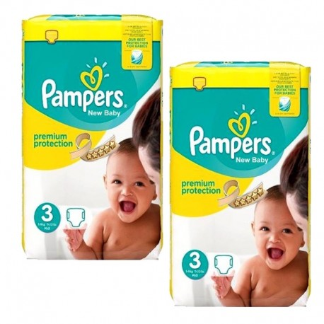 Pack 87 Couches Pampers Premium Protection taille 3 sur Promo Couches