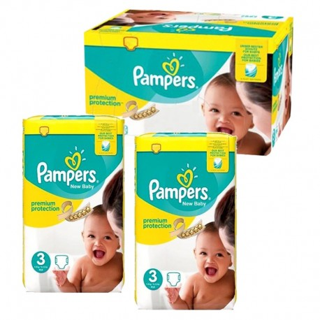 Mega pack 116 Couches Pampers Premium Protection taille 3 sur Promo Couches