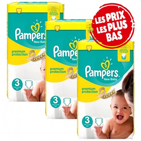 Giga pack 290 Couches Pampers Premium Protection taille 3 sur Promo Couches