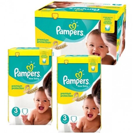 Maxi mega pack 464 Couches Pampers Premium Protection taille 3 sur Promo Couches