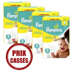 Maxi mega pack 493 Couches Pampers Premium Protection taille 3