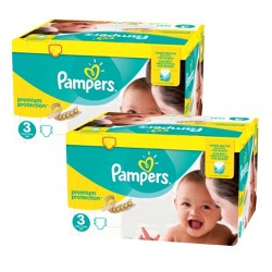 Pack jumeaux 522 Couches Pampers Premium Protection taille 3