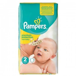 Pack 52 Couches Pampers Premium Protection taille 2