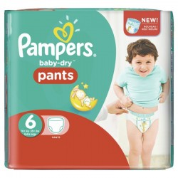Pack 72 Couches Pampers Baby Dry Pants taille 6 sur Promo Couches