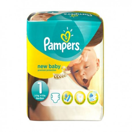 Pack 56 Couches Pampers Premium Protection taille 1 sur Promo Couches