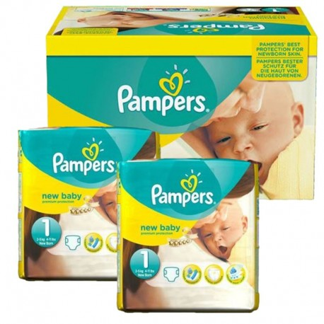 Pack jumeaux 672 Couches Pampers Premium Protection taille 1 sur Promo Couches