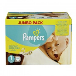 Pack jumeaux 728 Couches Pampers Premium Protection taille 1 sur Promo Couches