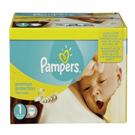 Pack jumeaux 896 Couches Pampers Premium Protection taille 1 sur Promo Couches
