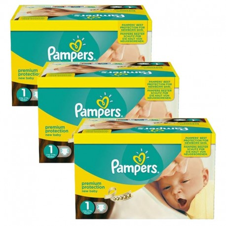 Pack jumeaux 952 Couches Pampers Premium Protection taille 1 sur Promo Couches