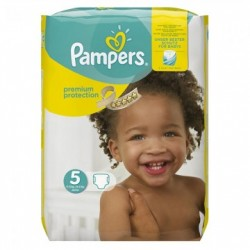 Pack 68 Couches Pampers Premium Protection taille 5