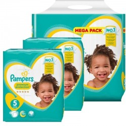 Mega pack 136 Couches Pampers Premium Protection taille 5