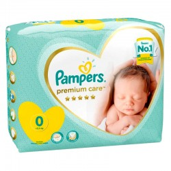 Pack 30 Couches Pampers Premium Care taille 0 sur Promo Couches
