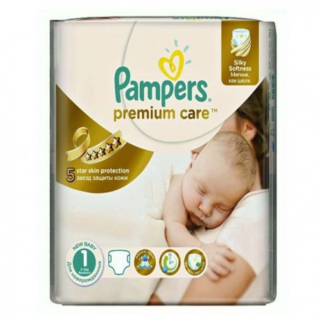 Pack 78 Couches Pampers Premium Care taille 1 sur Promo Couches