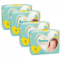 Giga pack 240 Couches Pampers Premium Care taille 0 sur Promo Couches