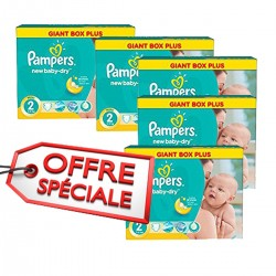 Mega pack 136 Couches Pampers New Baby Dry taille 2