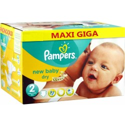 Maxi giga pack 340 Couches Pampers New Baby Dry taille 2