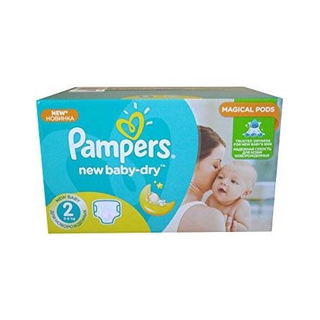 Maxi mega pack 476 Couches Pampers New Baby Dry taille 2 sur Promo Couches