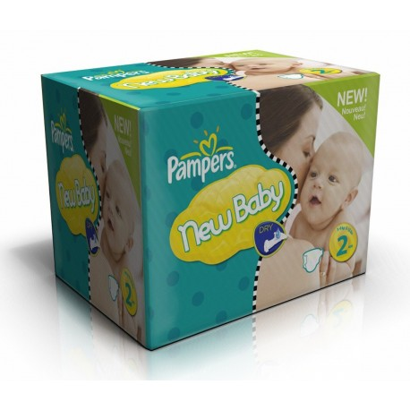 Pack jumeaux 612 Couches Pampers New Baby Dry taille 2 sur Promo Couches