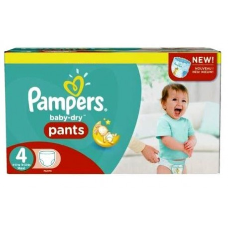 Mega pack 186 Couches Pampers Baby Dry Pants taille 4 sur Promo Couches