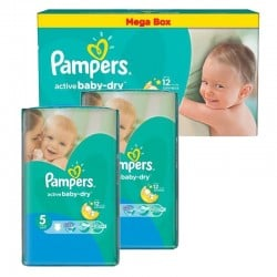 Maxi giga pack 324 Couches Pampers Active Baby Dry taille 5