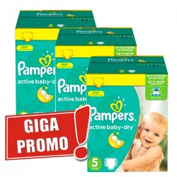 Mega pack 128 Couches Pampers Active Baby Dry taille 5