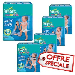 Pack 96 Couches Pampers Active Baby Dry taille 6