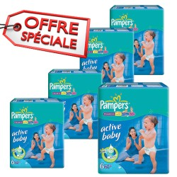 Maxi giga pack 384 Couches Pampers Active Baby Dry taille 6