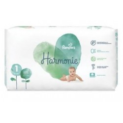 Pack 68 Couches Pampers Harmonie taille 1 sur Promo Couches