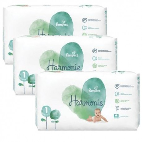 Pack jumeaux 544 Couches Pampers Harmonie taille 1 sur Promo Couches