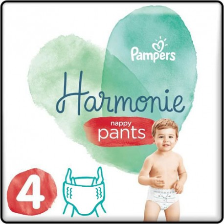 Pack 58 Couches Pampers Harmonie Pants taille 4 sur Promo Couches