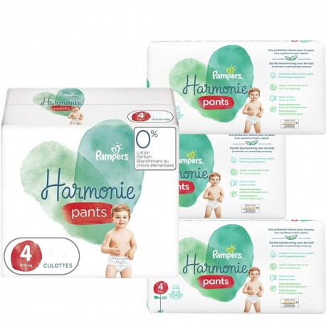 Giga pack 290 Couches Pampers Harmonie Pants taille 4 sur Promo Couches