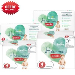 Maxi giga pack 348 Couches Pampers Harmonie Pants taille 4 sur Promo Couches