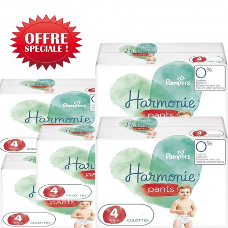Maxi mega pack 464 Couches Pampers Harmonie Pants taille 4 sur Promo Couches
