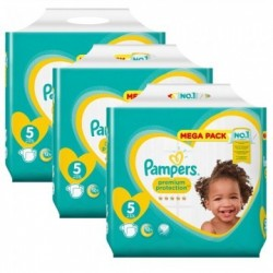 Pack 40 Couches Pampers Premium Protection taille 5 sur Promo Couches