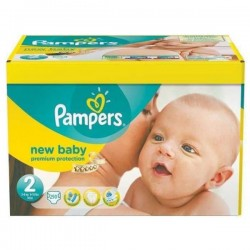 Mega pack 186 Couches Pampers Premium Protection taille 2 sur Promo Couches
