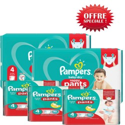 Pack 60 Couches Pampers Baby Dry Pants taille 4 sur Promo Couches