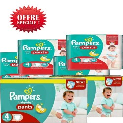 Mega pack 180 Couches Pampers Baby Dry Pants taille 4