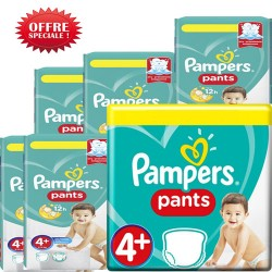 Maxi mega pack 400 Couches Pampers Baby Dry Pants taille 4+ sur Promo Couches