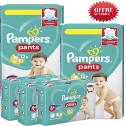 Pack jumeaux 500 Couches Pampers Baby Dry Pants taille 4+ sur Promo Couches