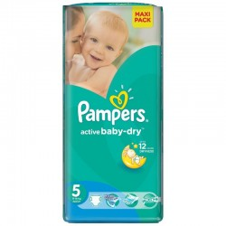 Pack 22 Couches Pampers Active Baby Dry taille 5 sur Promo Couches