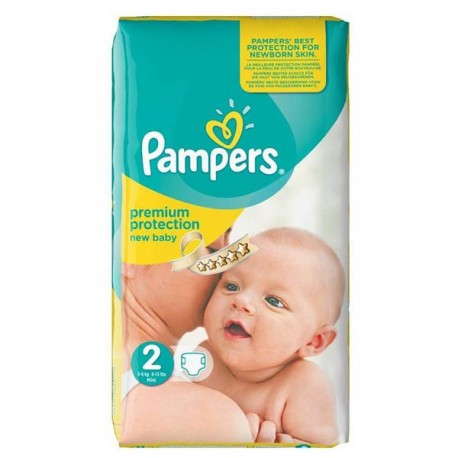Pack 31 Couches Pampers New Baby Premium Protection taille 2 sur Promo Couches