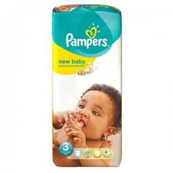 Pack 20 Couches Pampers New Baby Premium Protection taille 3 sur Promo Couches