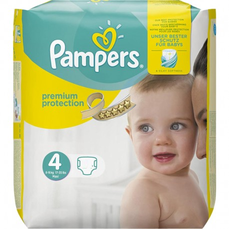 Pack 20 Couches Pampers New Baby Premium Protection taille 4 sur Promo Couches