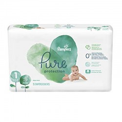 Pack 35 Couches Pampers Pure Protection taille 1 sur Promo Couches