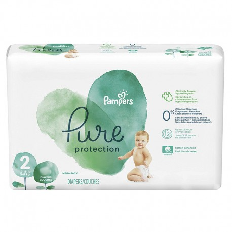 Pack 27 Couches Pampers Pure Protection taille 2 sur Promo Couches